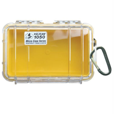 Pelican 1050 Micro Case w-Clear Lid - Yellow