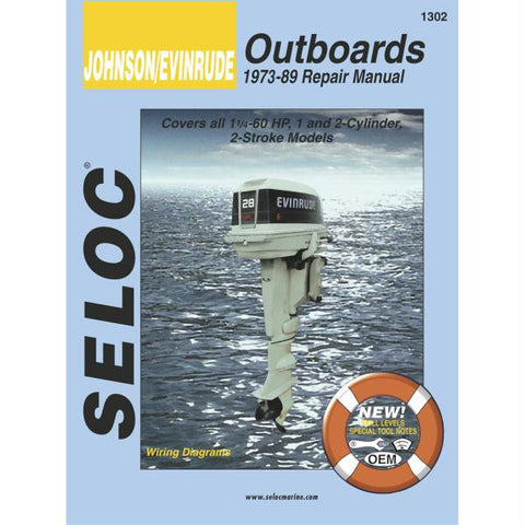 Seloc Service Manual - Johnson-Evinrude - Outboard - 1-2 Cyl - 1973-89