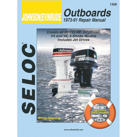 Seloc Service Manual - Johnson-Evinrude - 3, 4, & 6 Cyl - 1973-91