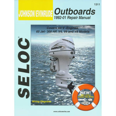 Seloc Service Manual - Johnson-Evinrude - All V Engines - 1992-01