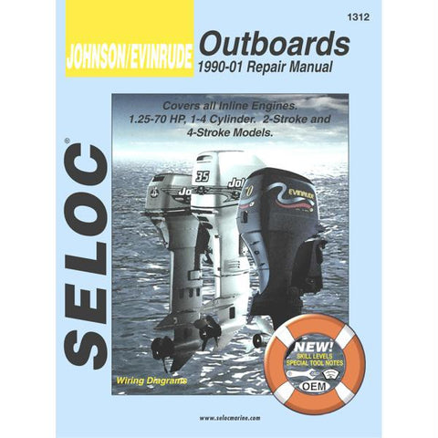 Seloc Serive Manual - Johnson-Evinrude - Inline Engines - 1990-2001