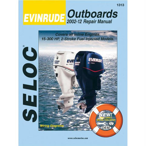 Seloc Service Manual - Evinrude Outboards - All 2 Stroke - 2002-12