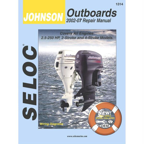 Seloc Serive Manual - Johnson - Outboards - 2002-2007