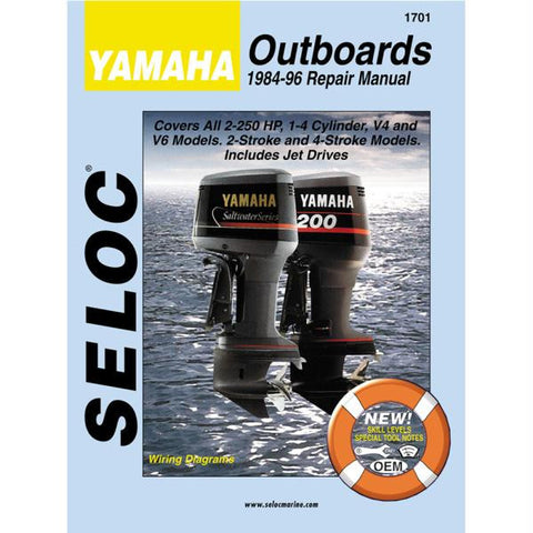 Seloc Service Manual - Yamaha Outboards - 4 Stroke - 1984-96