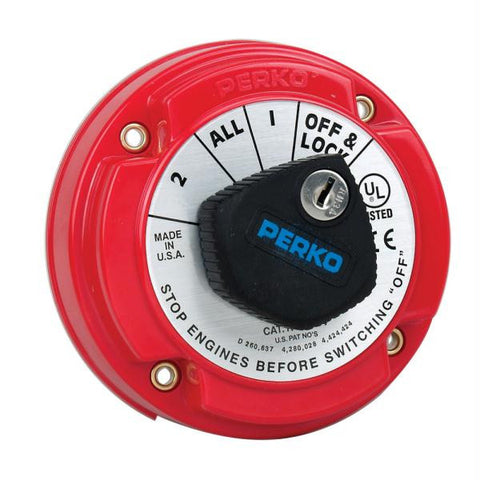 Perko 8504DP Medium Duty Battery Selector Switch w-Alternator Field Disconnect & Key Lock