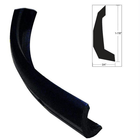 TACO Semi-Rigid Rub Rail Kit - Black w-No Insert - 30'