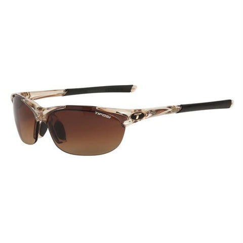 Tifosi Wisp Interchangeable Lens Sunglasses - Crystal Brown