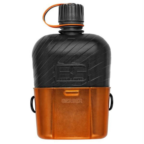 Gerber Bear Grylls Canteen Water Bottle w-Cooking Cup