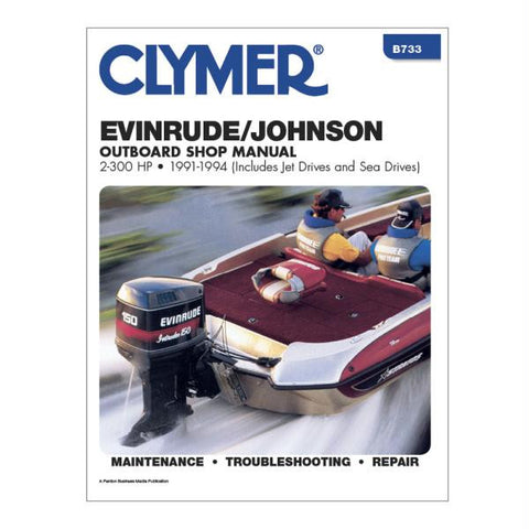 Clymer Evinrude-Johnson 2-300 HP Outboards (Includes Jet Drives and Sea Drives) (1991-1994)