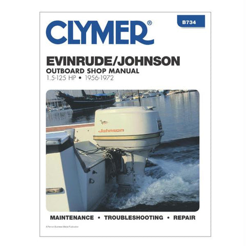 Clymer Evinrude-Johnson 1.5-125 HP Outboards (1956-1972)