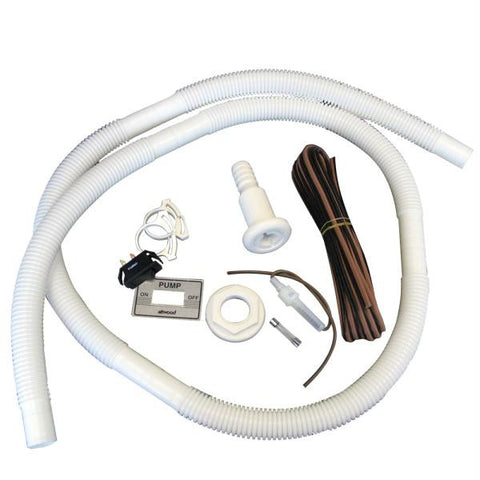 "Attwood Bilge Pump Installation Kit w-Switch, 3-4"" Hose Clamps & 20' Wire Fuse Holder"