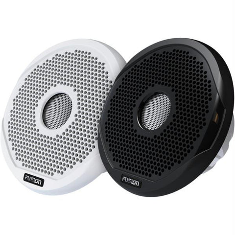 "FUSION 6"" Round 2-Way IPX65 Marine Speaker - 200W - (Pair) White w-Interchangeable Black & White Grills"