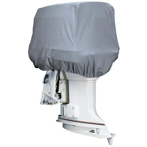 Attwood Road Ready™ Cotton Heavy-Duty Canvas Cover f-Outboard Motor Hood 50-115HP