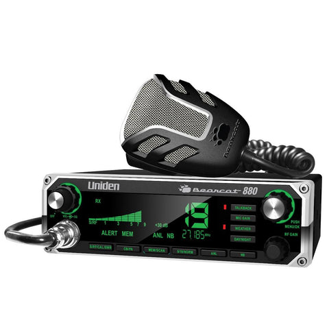 Uniden Bearcat 880 CB Radio w-7 Color Display Backlighting