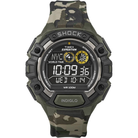 Timex Expedition Global Shock Watch w-Negative Display - Camo
