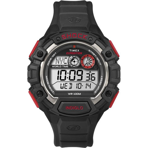 Timex Expedition Global Shock Watch - Black-Red