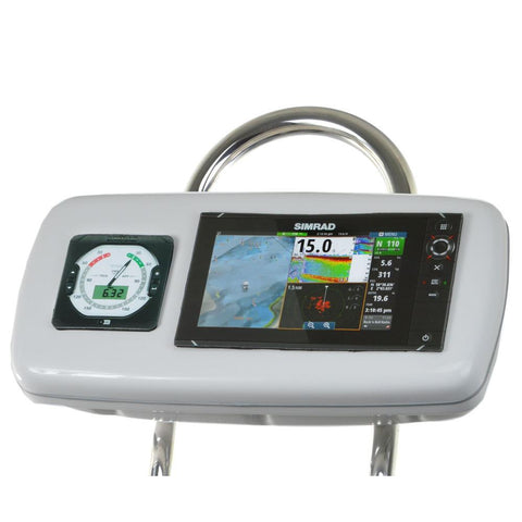 "NavPod GP1040-13 SystemPod Pre-Cut f-Simrad NSS9 evo2 or B&G Zeus² 9 & 1 Instrument f-9.5"" Wide Guard"