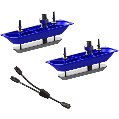 Navico StructureScan™HD Sonar Stainless Steel Thru-Hull Transducer (Pair) w-Y-Cable