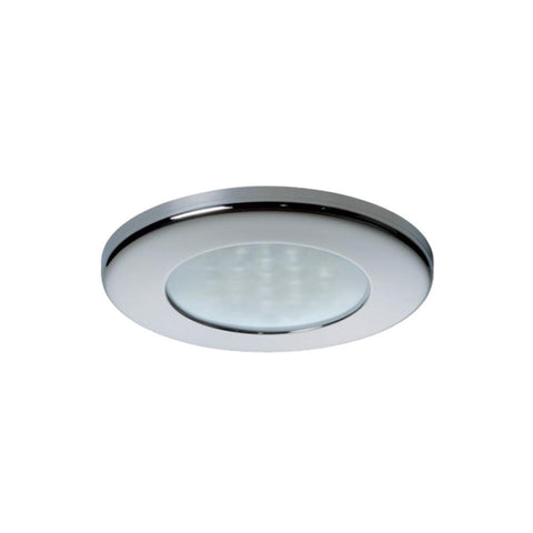 Quick Ted C Downlight LED -  2W, IP66, Spring Mounted w-Switch - Round Stainless Bezel, Round Warm White Light