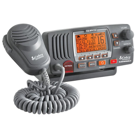 Cobra MR F77B Fixed Mount Class D VHF Radio - Grey