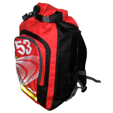 Ronstan 26L Roll-Top Dry BackPack - Black-Red