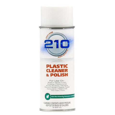 Camco 210 Plastic Cleaner Polish - 14oz Spray - Case of 12