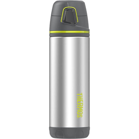 Thermos Element5® Stainless Steel, Insulated Double Wall Backpack Bottle - Charcoal w-Lime - 16 oz.