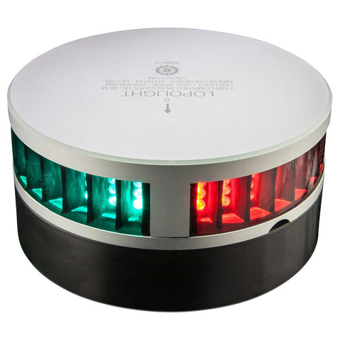 Lopolight Combined SideLights - 2nm f-Vessels 39'(12M) to 65'(20M) - Round Housing - Horizontal Mounting