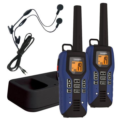 Uniden 50 Mile FRS-GMRS Submersible Two-Way Radio w-Direct Call - 2-pack