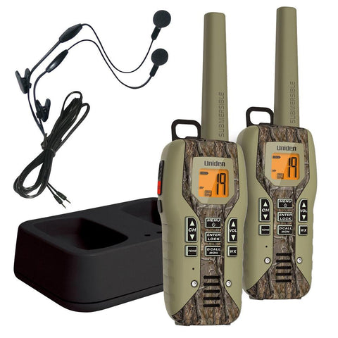 Uniden 50 Mile FRS-GMRS Submersible Two-Way Radio w-Direct Call - Camo - 2-pack