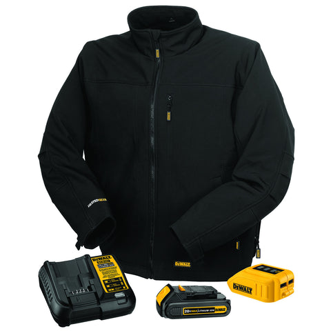 DEWALT DCHJ060 Heated Soft Shell Black Work Jacket Construction Cold Weather