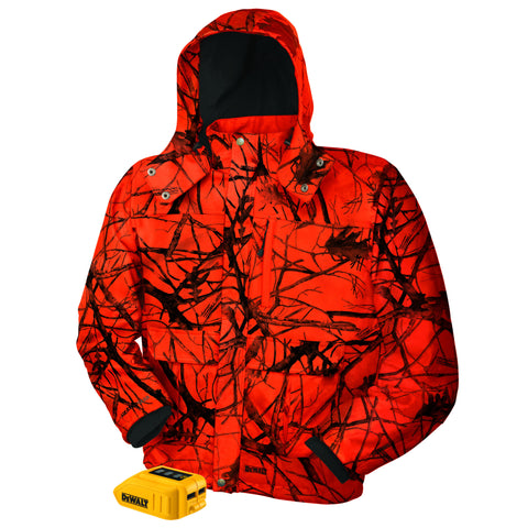 DEWALT DCHJ063 Heated True Timber Blaze Camo Jacket Hunting Cold Weather