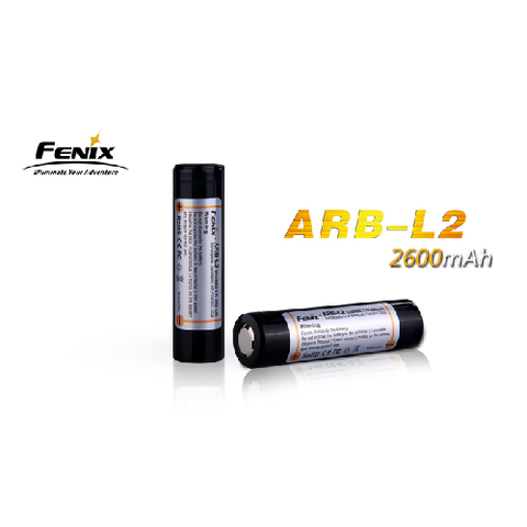 Fenix Li-Ion 18650 (3.6v) 2600maH Rechargeable Battery