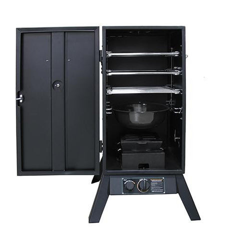 "30"" Outdoor Propane Smoker Vertical Black"