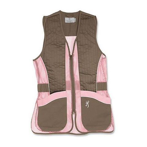 Lady Mesh Vest, Brown-Pink - XX-Large