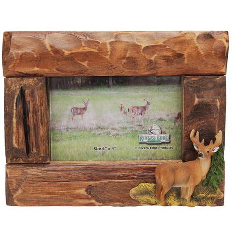 "Picture Frame - Deer 4""x6"" Firwood Root"