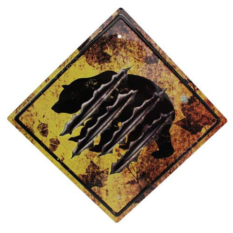 "11.5"" x 11.5"" Tin Sign - Bear Crossing"