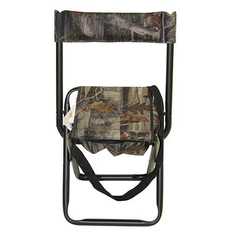 Camo Folding Stool w-Back Rest