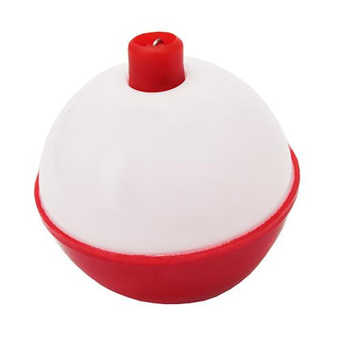 "Snap-On Round Floats, Red-White - Size 3-4"", Bulk"