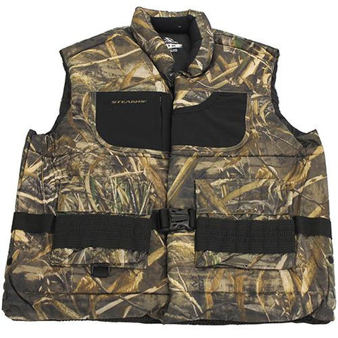 Hunting Vest Adult, Camo - X-Large