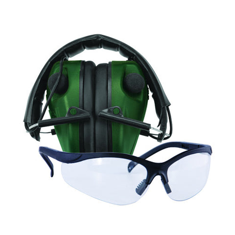 E-Max Electronic Hearing Protection - Low Profile w-Shooting Glasses