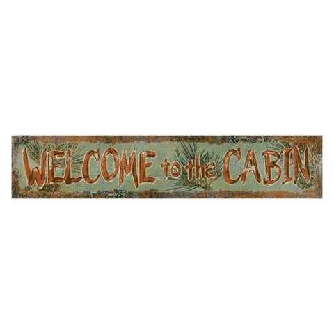 Heavy Metal Sign - Welcome To The Cabin