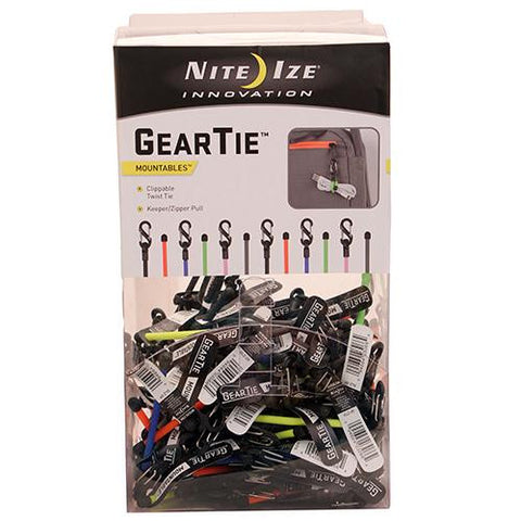Gear Tie ClippableTwist Tie Gravity Bin 100 Pieces
