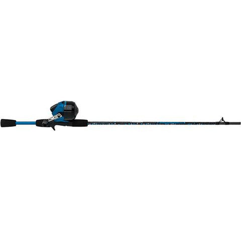 "Amphibian Spincast Combo - 10, 0 Bearings, 5'6"" Length, 2 Piece Rod, Medium, Blue, Right Hand"