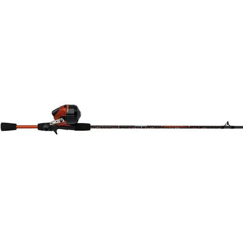 "Amphibian Spincast Combo - 10, 0 Bearings, 5'6"" Length, 2 Piece Rod, Medium, Orange, Right Hand"