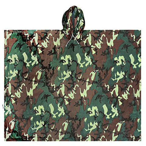 Adult All-Weather Poncho, Camo