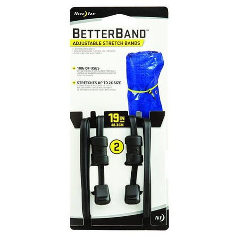 "Better Bands - 19"", Black, Per 2"