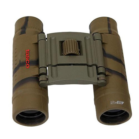 Essentials Binoculars - 12X25mm, Roof, Brown Camo
