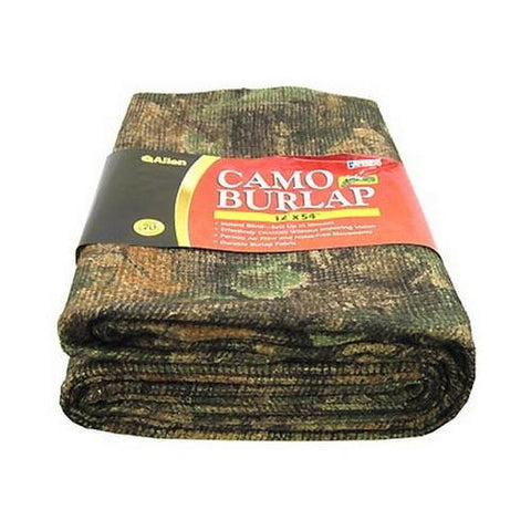 Blind Fabric - Camo Burlap Fabric, Oakbrush Green