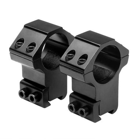 "1"" Rings - 3-8"" Dovetail, High, Black"